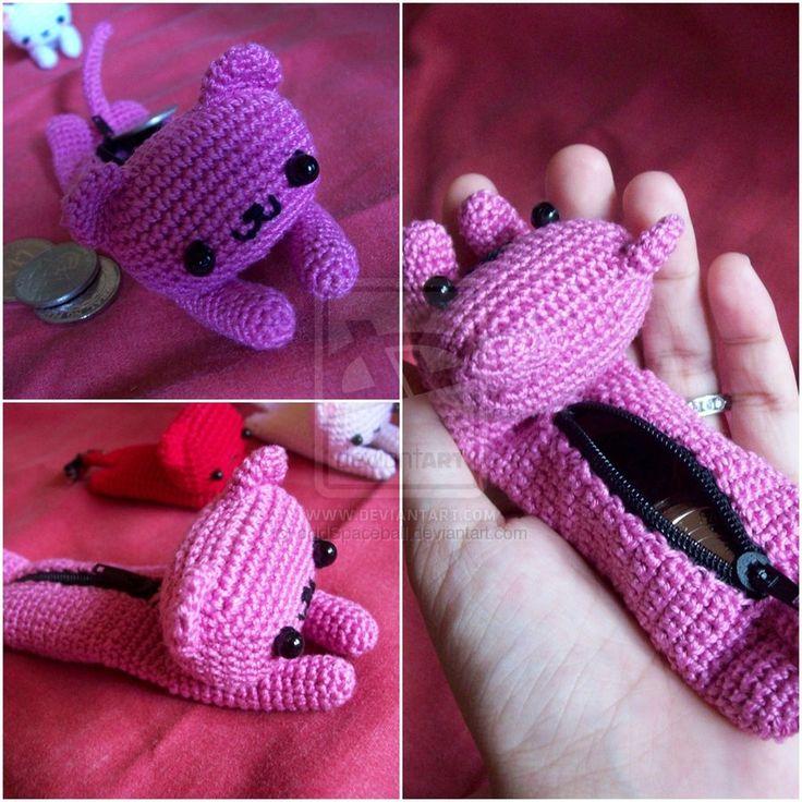 Cat Coin Purse by oddSpaceball.deviantart.com on @deviantART Inspiracion  ༺✿Teresa Restegui http://www.pinterest.com/teretegui/✿༻