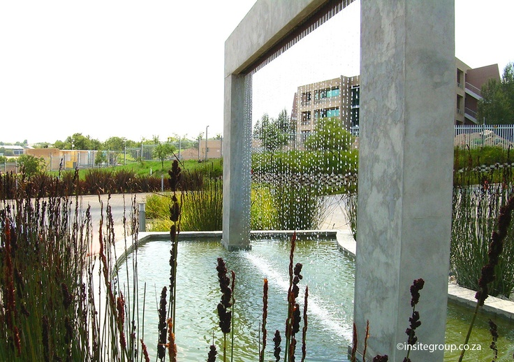 Water feature design at the 3M offices in South Africa, by Insite landscape architects.