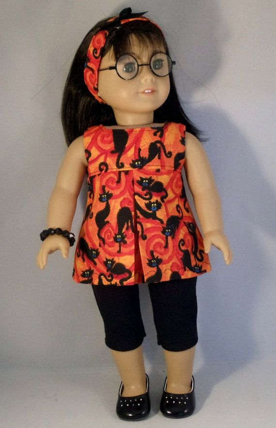 American Girl Doll Halloween Black Cat by DollFashionsbyAlthea, $11.50