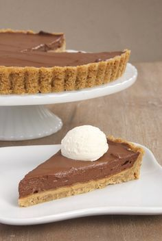 Chocolate Pudding Pie with Peanut Butter Filling - Bake or Break