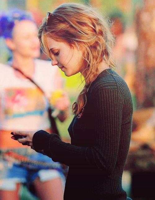 Emma Watson. again a cute braid