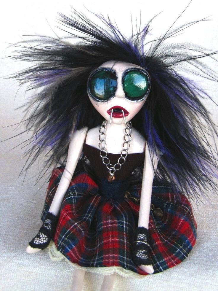 Punk Vampire Art Doll - Patsy. $85.00, via Etsy.