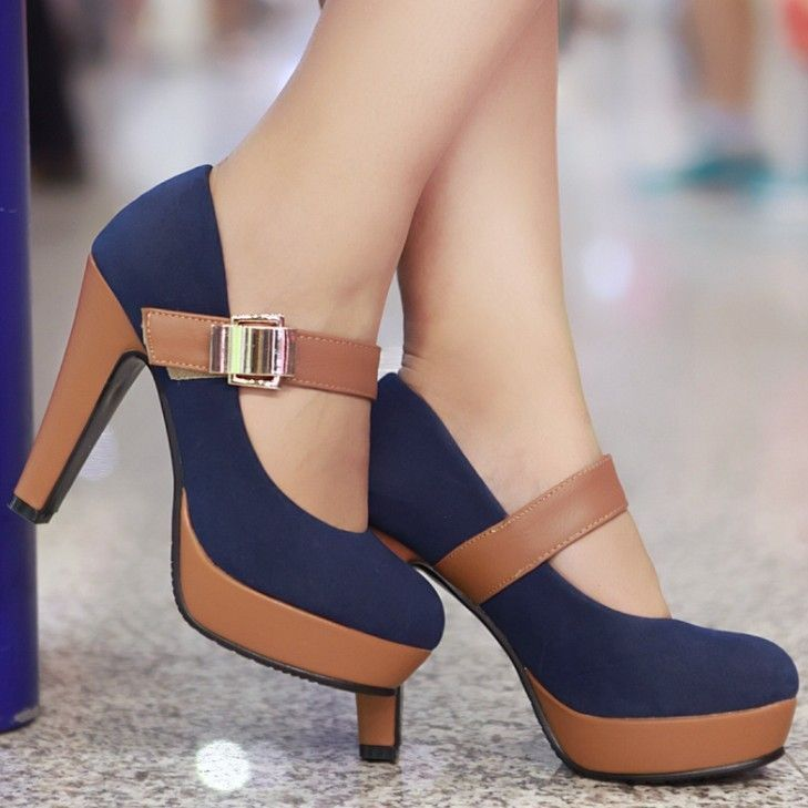 Aliexpress.com : Buy Rome Style Platform Shoes for Women Fashion Thick Heel Pumps Ladies Dress Casual Shoes Sexy High Heels Pumps free shipping from Reliable shoes high heels pumps suppliers on Vogue shoes $56.33