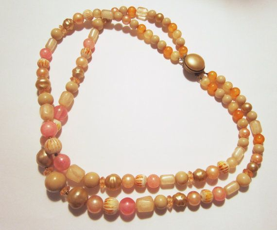 Vintage 2 Strand Bead  Necklace jewelry   by NewUsedVintage, $15.00