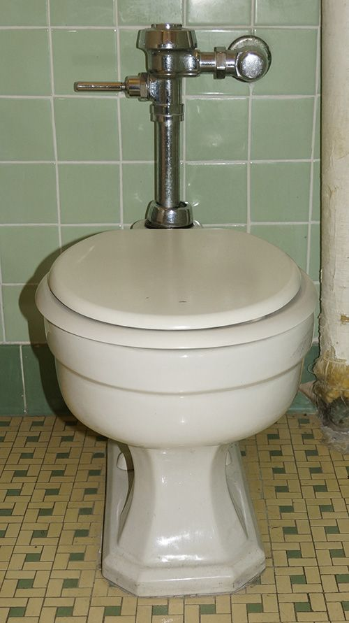 Vintage Standard Devoro Flushometer Toilet Bathrooms
