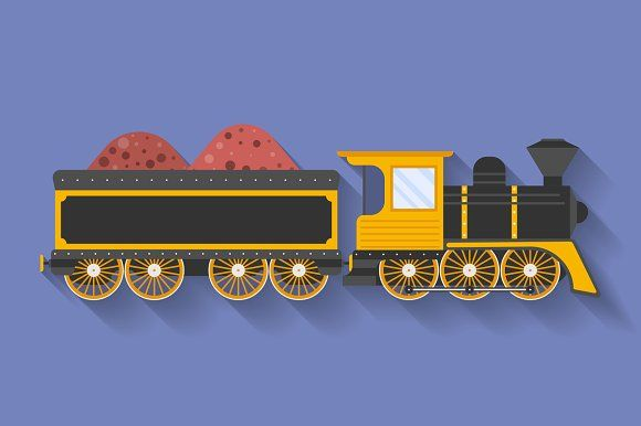 Steam Locomotive or Puffer by Vector Shop on @creativemarket