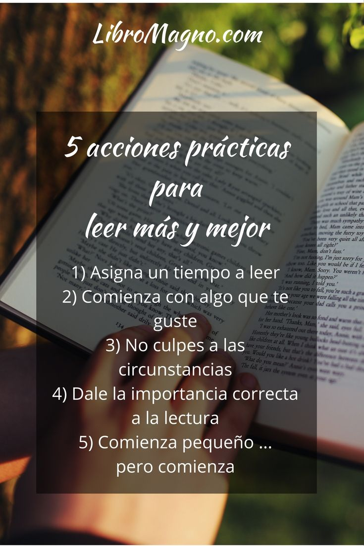 5 acciones prácticas para leer más y mejor en #libromagno Mira nuestro artículo aquí http://bit.ly/2kTOybO