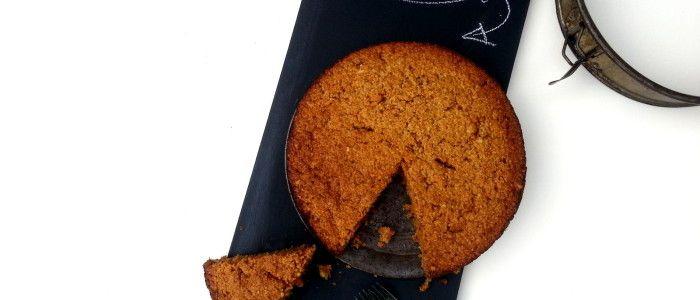 Carrotcake, zonder geraffineerde suiker, tarwe en boter. En lekker!!