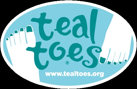 Teal toes for ovarian cancer awareness