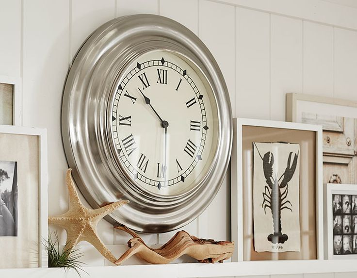 Like The Clock. Also Checking Out How They Decorate The Mantel. Coastal  Style Ideas