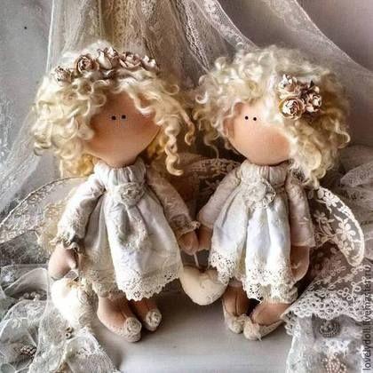 Коллекционные куклы ручной работы. Ярмарка Мастеров - ручная работа. Купить Ангел-хранитель 2. Handmade. Бежевый, ангел-хранитель