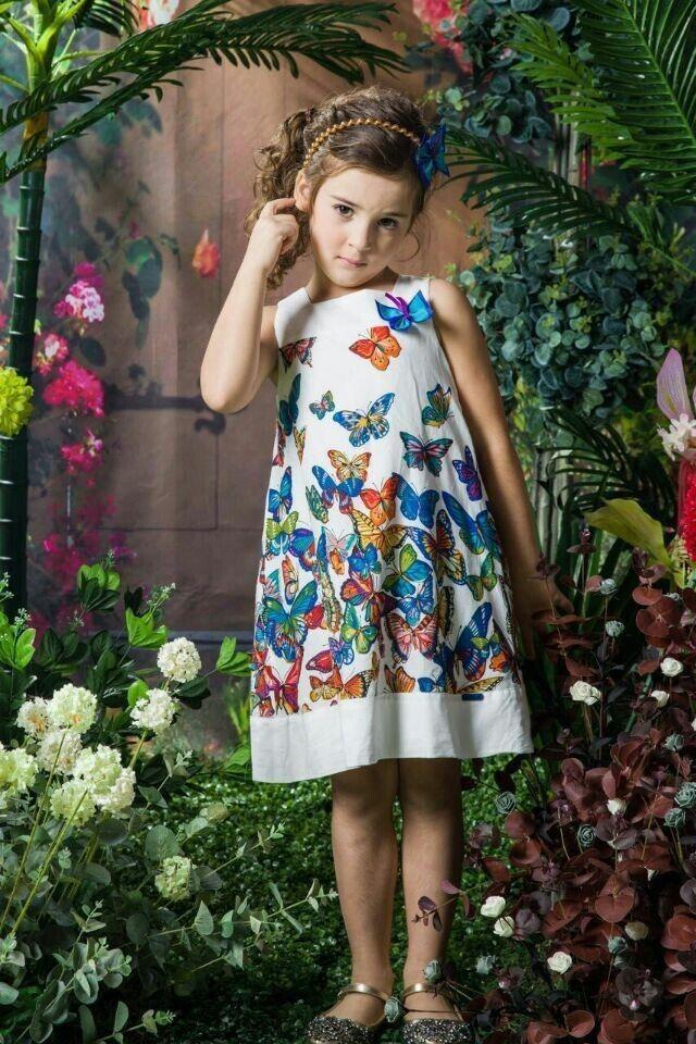 2015 Новое лето Девочки платье Бити Бабочка Распечатать платье принцессы Марка Детская одежда 100% хлопок повседневные платья для детей-в платьях от детей и Mothercare на Aliexpress.com | Alibaba Group