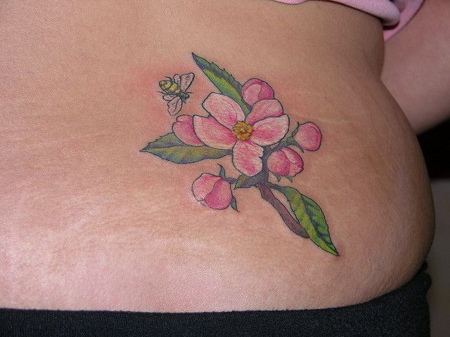 30 Apple Blossom Tattoo Designs | http://www.berlinroots.com/apple-blossom-tattoo-designs/