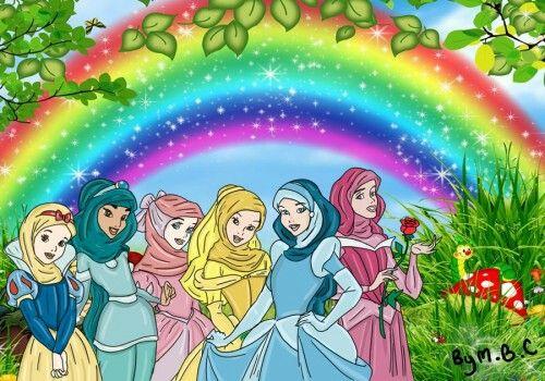 Feminist Disney, Disney Princesses with Hijab by ~MiSsBeatoChan on...