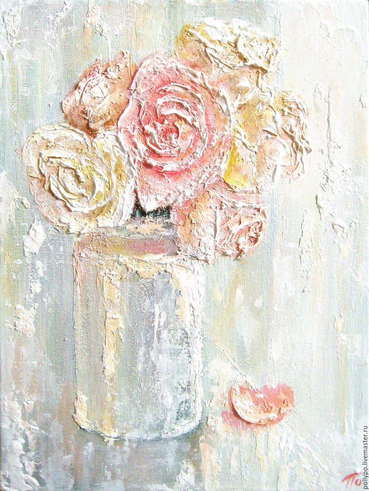 """Купить Картина """"Утренний свет"""" ( живопись, цветы, светлая картина купить ) - картина"""