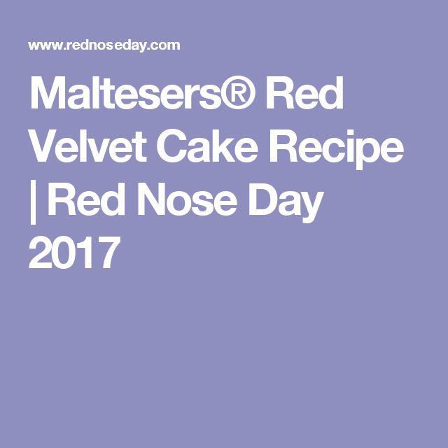 Maltesers® Red Velvet Cake Recipe | Red Nose Day 2017
