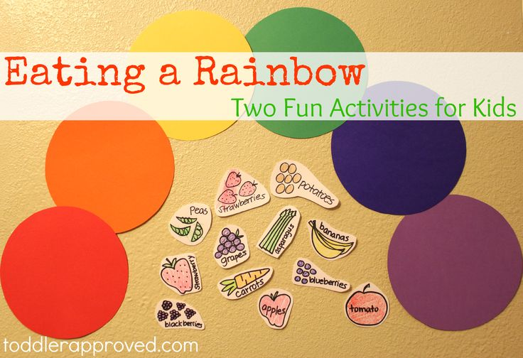 Toddler Approved!: Eating a Rainbow: Two Fun Activities for Kids