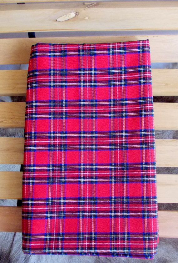 FREE SHIPPING-Red Christmas Fabric, Royal Stewart Tartan Fabric, Red Check Fabric, Kilt Fabric,Christmas Decoration,Cotton Fabric, Per Meter