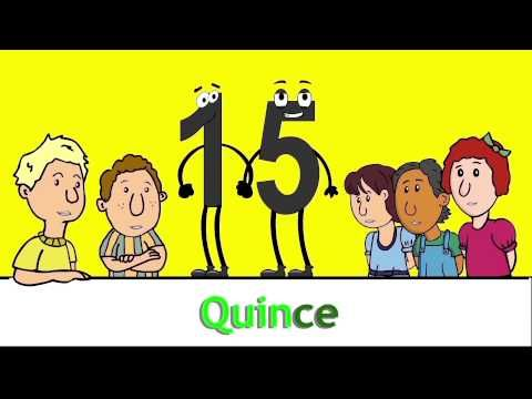 Números del 11 al 100 - Numbers 11 to 100 in Spanish Song by Risas y Sonrisas Spanish for Kids - YouTube  How fun and easy it is to learn numbers 11 through 100 in Spanish!   The colors in the words enhance the repeating patterns. Once 1-100 has been mastered, it will be very easy to count to a million.  The music in this video is just one of the elements used in the Spanish for Kids curriculum. Make sure to activate the vocabulary with games, movement (sign & sing) and practical…