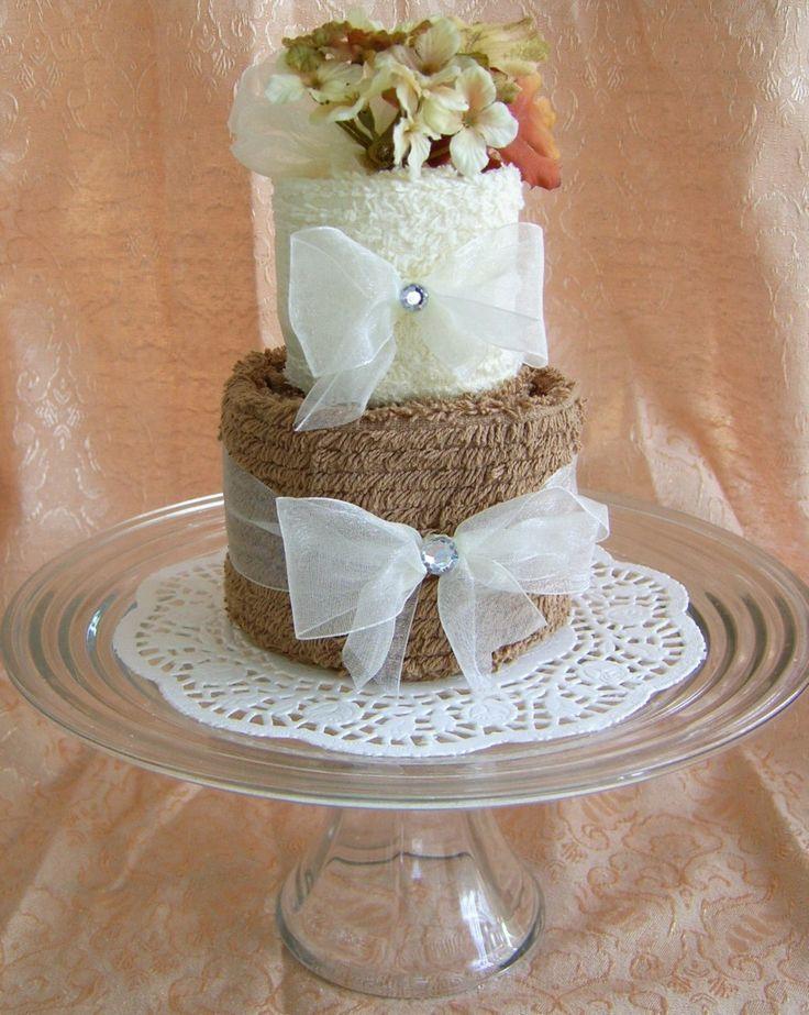 Towel Origami Birthday Cake