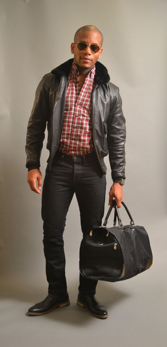 Johnston and murphy leather jacket