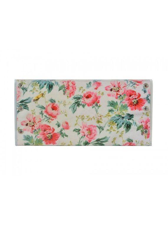 Handmade floral clutch bag by jtfashionsoul on Etsy
