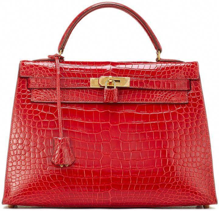27a3b5c41f28 ... cheap hermes kelly 32 crocodile satchel bag red hermeshandbags defbf  980de