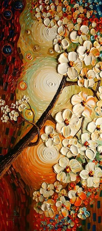 ☆ Artist Paula Nizamas ☆ love the fact that you can see the texture of the paint on the canvas