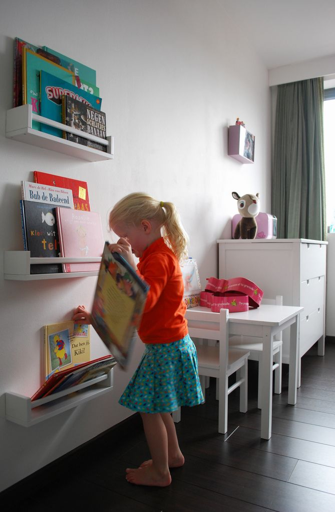 Ikea kruidenrek als boekenrek.