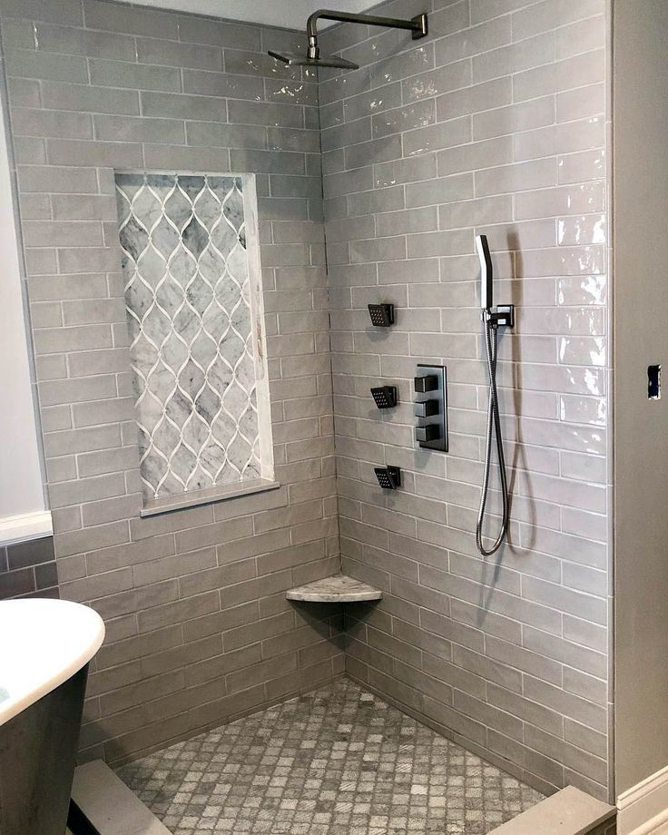 find grey tile ideas for shower only on this page