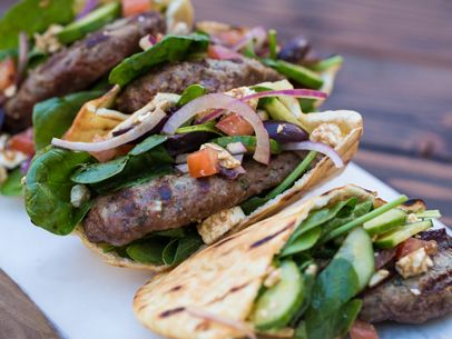 Grilled Greek Pita Burger from @Albertsons