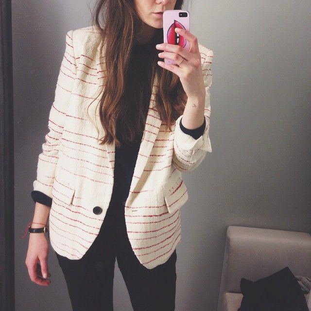 via ariofcourse - In love with this blazer by @isabelmarant emojiemoji️ Perfect for spring and with lighter colors!