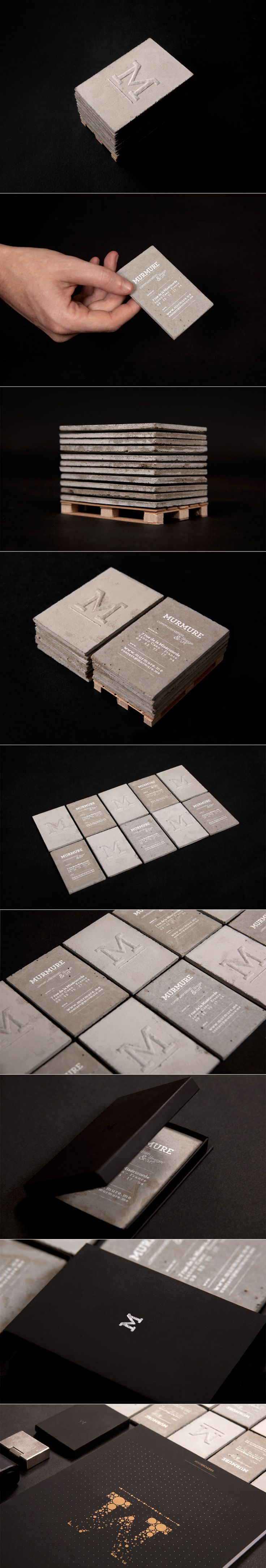 Concrete Biz Cards  @Ali Jaffal could be baba's kaman :P