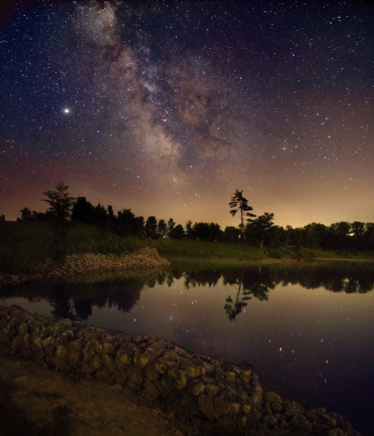 Milkyway: Under The Stars, Ontario Canada, Galaxie, Starry Sky, Starry Night, Reflection Photography, Milkyway, Night Sky, Milky Way