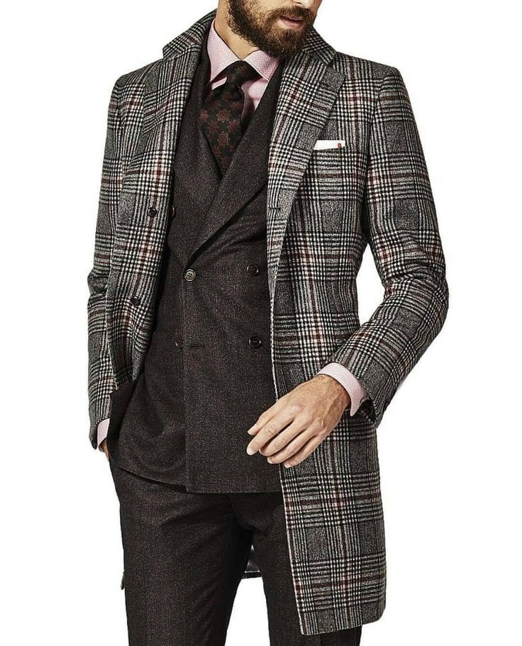 If a pattern suit is to much for your office try a pattern coat!