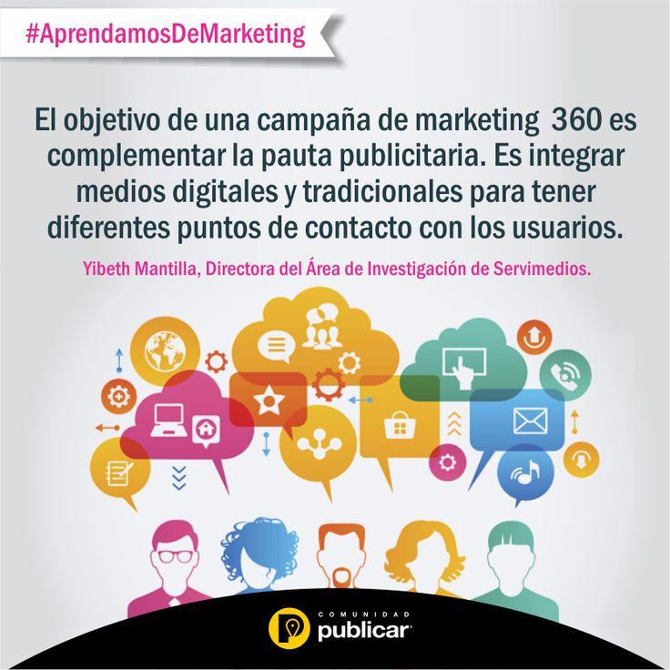 #AprendamosDeMarketing ¿Sabía que el marketing integrado (o marketing 360°) es una manera efectiva de generar un mayor impacto y de conectarse con sus clientes?