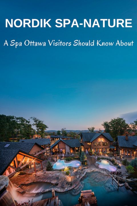 Nordik Spa-Nature in Quebec is just a 15-min drive from Ottawa.