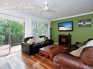 Good Vibes Holiday Rental in Nelson Bay, NSW from $185 p/n sleeps 8. @homeawayau #petfriendly