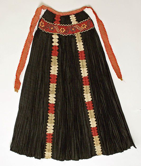 Apron. 19th century. Romanian.