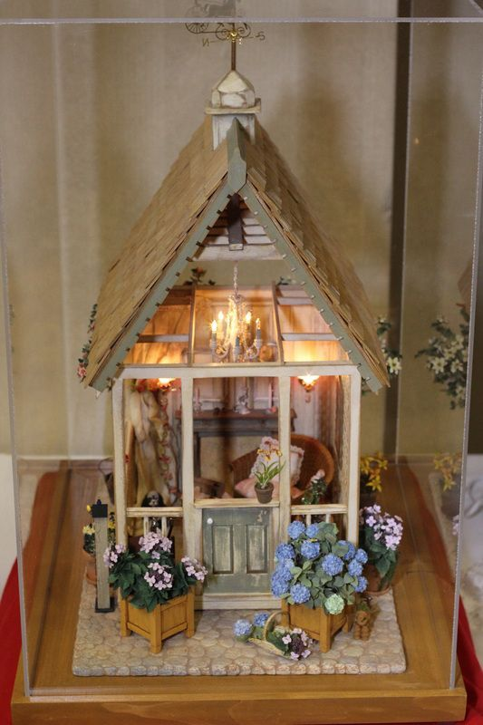 little dollhouse with light, decorative