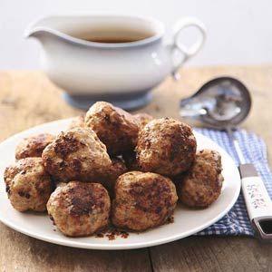 dutch recipe: Gehaktbal met jus