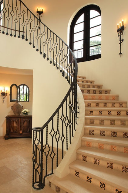 Clean The Decorative Wrought Iron Railing : ... Railing Ideas on Pinterest  Wrought iron staircase, Wrought iron and