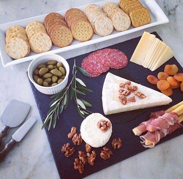 Pretty Cheese Plate Using Trader Joe Items!