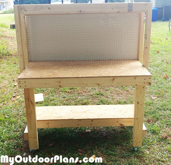 DIY Workbench with Pegboard