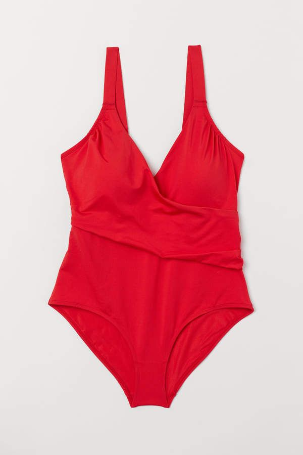 H&M H&M+ Shaping Swimsuit – Red