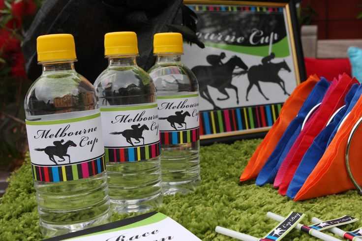 Melbourne Cup party printables - Drink bottle labels