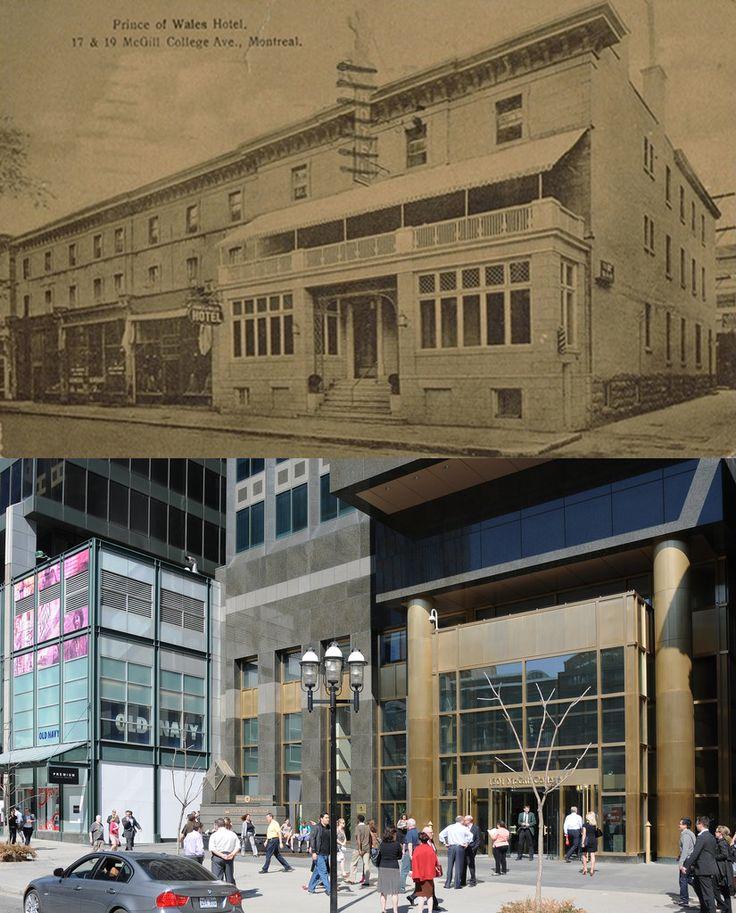 L'hôtel Prince de Galles, avenue Mcgill College. Source : BANQ, cartes postales, CP 5535, bibnum2.banq.qc.ca/bna/carpos/c05535.jpg