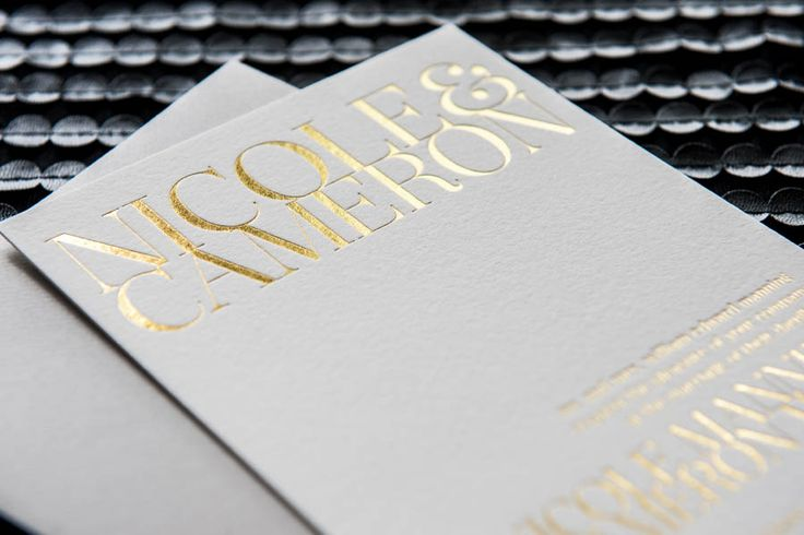 Gramercy | Foiled Invitations | Luxury Foiled Gold and Silver Wedding Invitations