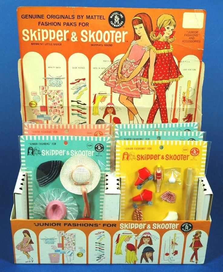 This vintage display of Skipper & Skooter is so fun!