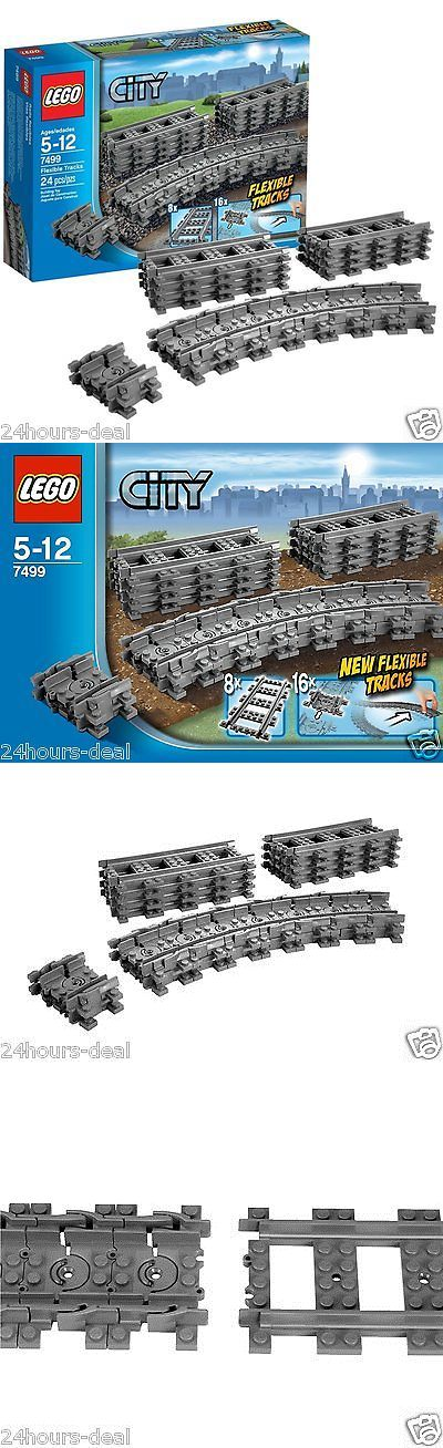 LEGO Complete Sets and Packs 19006: Lego City Flexible Tracks Set 7499 Straight Play Brand Train Farther Kid Toy New -> BUY IT NOW ONLY: $31.09 on eBay!